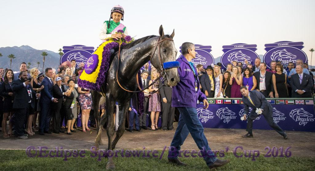 ARCADIA, CA - NOVEMBER 05: during day two of the 2016 Breeders' Cup World Championships at Santa Anita Park on November 5, 2016 in Arcadia, California. (Photo by Alex Evers/Eclipse Sportswire/Breeders Cup)