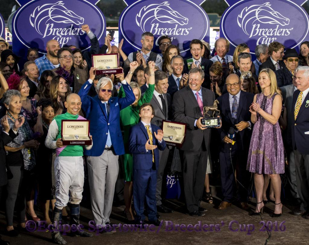 ARCADIA, CA - NOVEMBER 05: during day two of the 2016 Breeders' Cup World Championships at Santa Anita Park on November 5, 2016 in Arcadia, California. (Photo by Douglas DeFelice/Eclipse Sportswire/Breeders Cup)